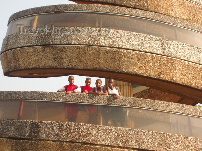 cameroon30: Yaoundé, Cameroon: girls at the reunification monument - photo by B.Cloutier - (c) Travel-Images.com - Stock Photography agency - Image Bank