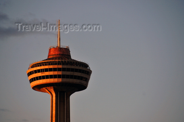 canada122: Niagara Falls, Ontario, Canada: Skylon Tower at sunset - Googie architecture - Bregman and Hamann Architects - photo by M.Torres - (c) Travel-Images.com - Stock Photography agency - Image Bank