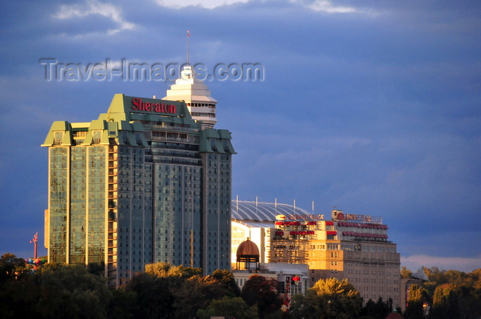 canada124: Niagara Falls, Ontario, Canada: Sheraton on the Falls and Crowne Plaza hotels and Hard Rock Café, with the tower of Casino Niagara in the background - Falls Avenue Entertainment Complex - photo by M.Torres - (c) Travel-Images.com - Stock Photography agency - Image Bank