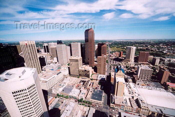 canada174: Canada / Kanada - Calgary (Alberta): skyline - view from Calgary tower (photo by M.Torres) - (c) Travel-Images.com - Stock Photography agency - Image Bank