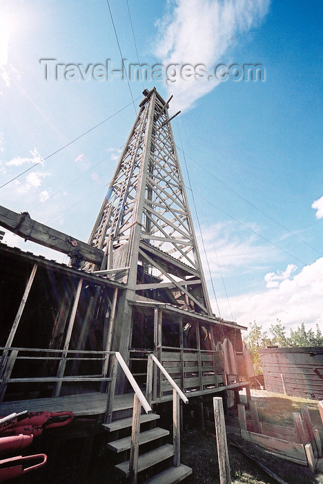 canada182: Canada / Kanada - Calgary, Alberta: Heritage Park - oil derrick - photo by M.Torres - (c) Travel-Images.com - Stock Photography agency - Image Bank