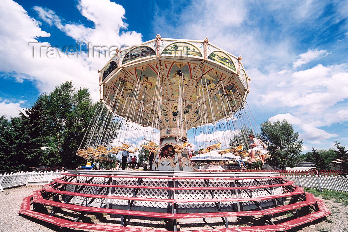 canada183: Canada / Kanada - Calgary, Alberta: Heritage Park - merry go round - Dangler swings - photo by M.Torres - (c) Travel-Images.com - Stock Photography agency - Image Bank