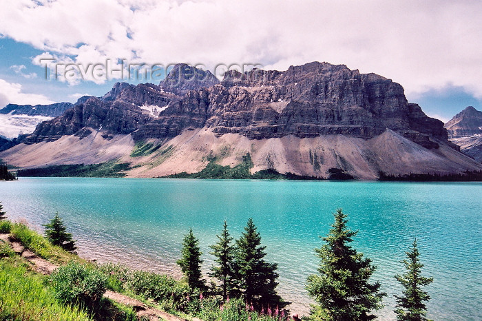 canada201: Canada / Kanada - Peyto Lake (Alberta): view towards the mountains - Banff NP - photo by M.Torres - (c) Travel-Images.com - Stock Photography agency - Image Bank