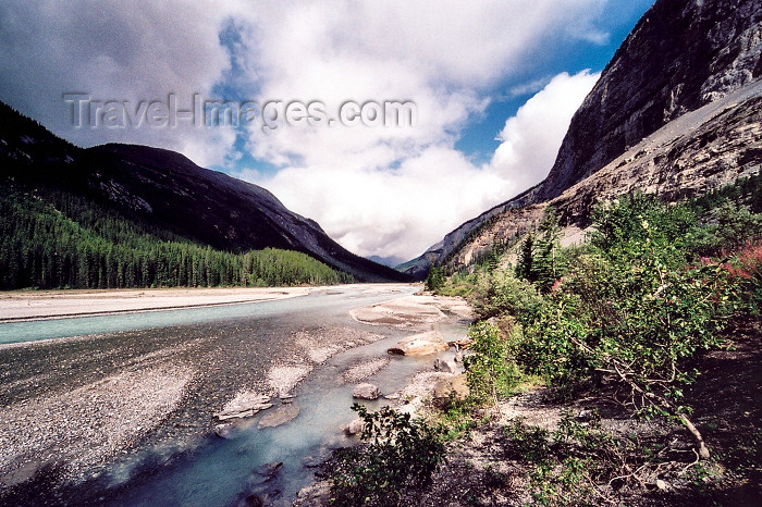 canada204: Canada / Kanada - Jasper National Park (Alberta): Bow river - photo by M.Torres - (c) Travel-Images.com - Stock Photography agency - Image Bank