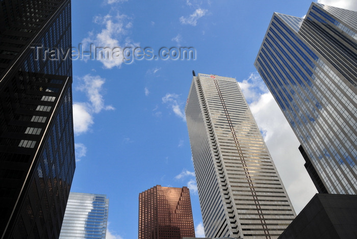 canada286: Toronto, Ontario, Canada: Financial District - skyscrapers Left to Right - Oxford Tower, Bay Adelaide Centre, Scotia Plaza, First Canadian Place, Exchange Tower - photo by M.Torres - (c) Travel-Images.com - Stock Photography agency - Image Bank
