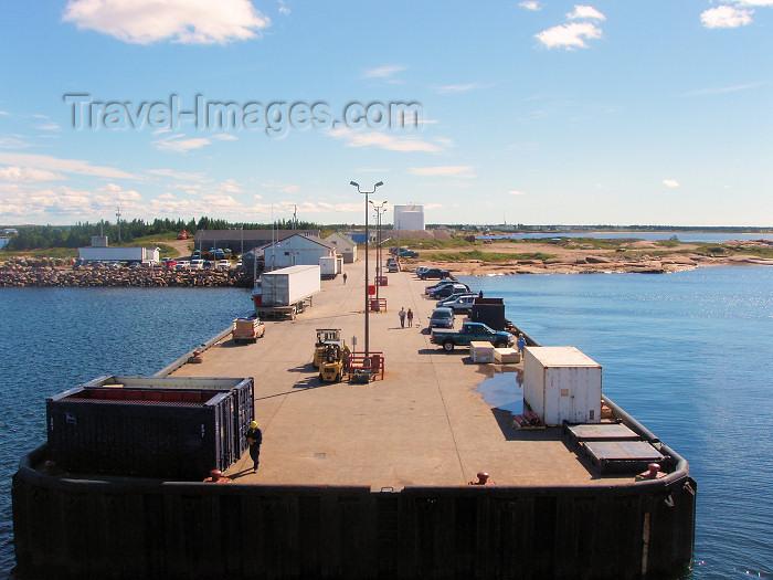 canada306: Natashquan (Quebec): pier on the Jacques Cartier strait / détroit de Jacques-Cartier - photo by B.Cloutier - (c) Travel-Images.com - Stock Photography agency - Image Bank