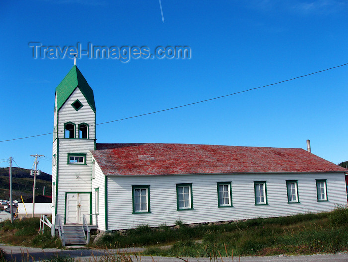 canada324: Canada / Kanada - Nain (Labrador): wooden church - 18th century Moravian Church - photo by B.Cloutier - (c) Travel-Images.com - Stock Photography agency - Image Bank