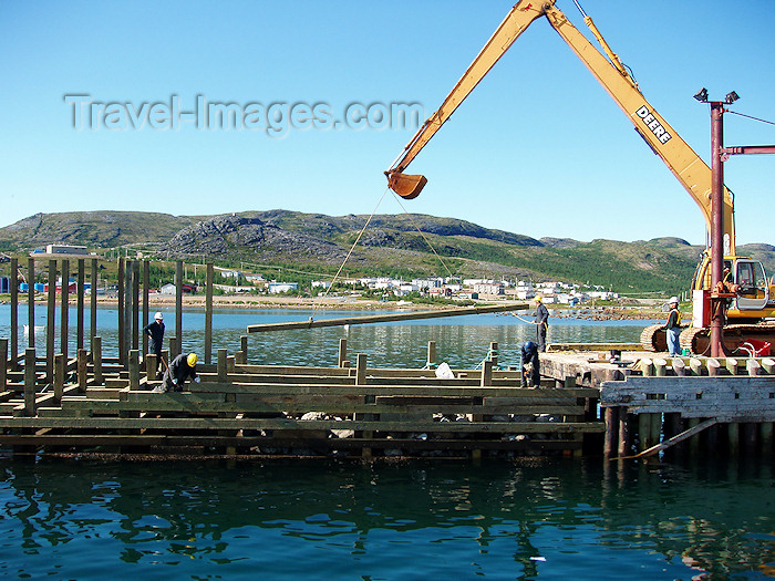 canada326: Canada / Kanada - Nain (Labrador): docks - backhoe - photo by B.Cloutier - (c) Travel-Images.com - Stock Photography agency - Image Bank