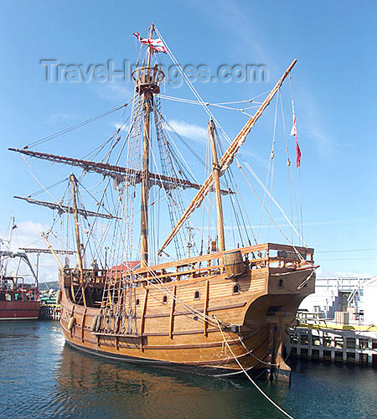 canada335: Canada / Kanada - Bonavista, Newfoundland: reproduction of Caboto's barque Matthew - photo by B.Cloutier - (c) Travel-Images.com - Stock Photography agency - Image Bank