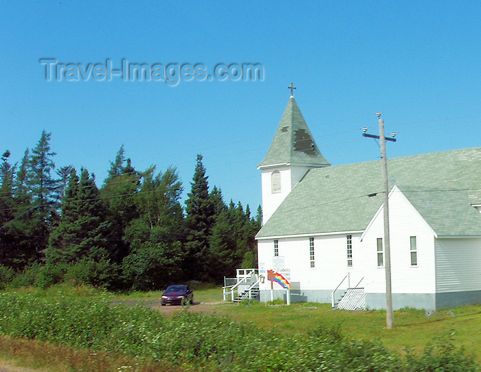 canada342: Canada / Kanada - Burin Peninsula, Newfoundland: countryside church - photo by B.Cloutier - (c) Travel-Images.com - Stock Photography agency - Image Bank