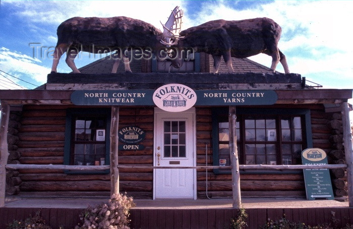 canada35: Canada / Kanada - Whitehorse, Yukon: knitwear shop - Folknits - photo by F.Rigaud - (c) Travel-Images.com - Stock Photography agency - Image Bank
