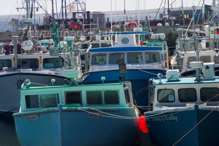 canada351: Scenic view of fishing boats in Woods Harbour in the Acadian region near Pubnico in western Nova Scotia, Canada - photo by D.Smith - (c) Travel-Images.com - Stock Photography agency - Image Bank