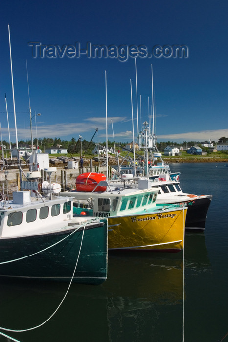 canada352: Scenic view of fishing boats in Woods Harbour in the Acadian region near Pubnico in western Nova Scotia, Canada - photo by D.Smith - (c) Travel-Images.com - Stock Photography agency - Image Bank
