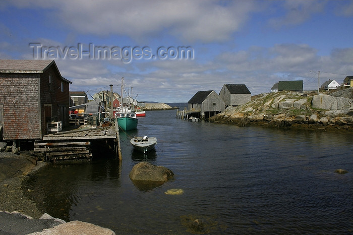 canada379: Peggys Cove, Nova Scotia, Canada: houses by the water - eastern shore of St. Margarets Bay - photo by J.Cave - (c) Travel-Images.com - Stock Photography agency - Image Bank