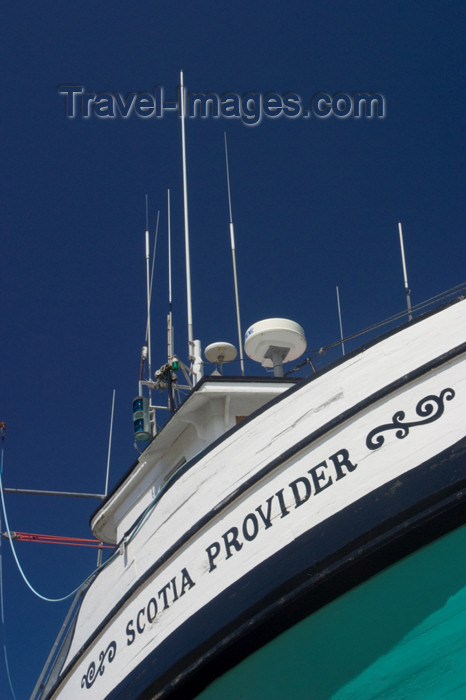 canada400: Fishing Boat at dry dock in Annapolic Royal, Nova Scotia, Canada - photo by D.Smith - (c) Travel-Images.com - Stock Photography agency - Image Bank