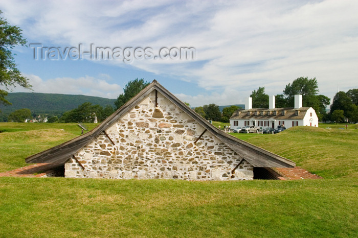 canada405: Scenic views of the munitions storage area at the historic fort at Annapolis Royal, Nova Scotia, Canada - photo by D.Smith - (c) Travel-Images.com - Stock Photography agency - Image Bank