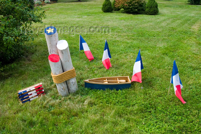 canada423: Acadian flags in the Meteghan, Acadian region of Nova Scotia, Canada - photo by D.Smith - (c) Travel-Images.com - Stock Photography agency - Image Bank