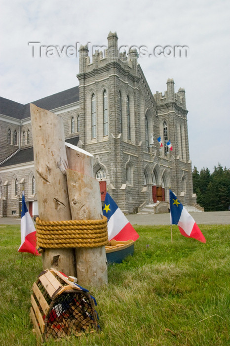 canada424: Acadian flags in the Meteghan, Acadian region of Nova Scotia, Canada - photo by D.Smith - (c) Travel-Images.com - Stock Photography agency - Image Bank
