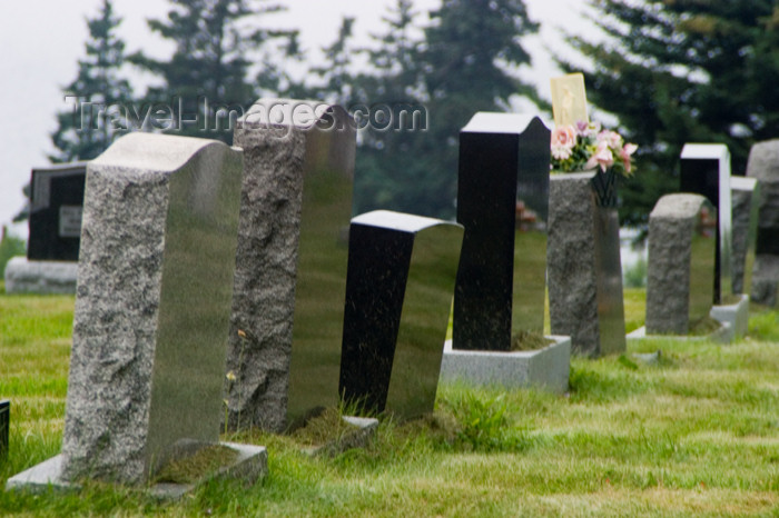 canada426: Tombstones in a graveyard in the Acadian region of Nova Scotia, Canada - photo by D.Smith - (c) Travel-Images.com - Stock Photography agency - Image Bank