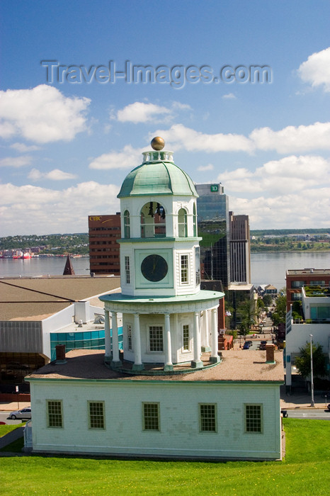 canada429: The Citadel fort clock tower in the foreground with dowtown Halifax, Nova Scotia, Canada in the background - photo by D.Smith - (c) Travel-Images.com - Stock Photography agency - Image Bank
