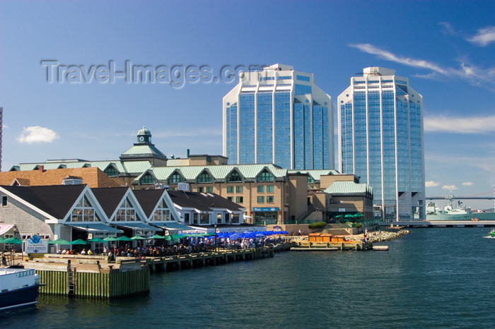 canada438: Scenic view of the Halifax, Nova Scotia, Canada waterfront and city skyline from the harbour - photo by D.Smith - (c) Travel-Images.com - Stock Photography agency - Image Bank