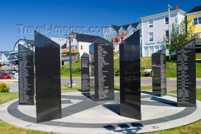 canada450: Scenic views of the fishermans memorial in the  historic fishing village of Lunenburg, Nova Scotia, Canada - photo by D.Smith - (c) Travel-Images.com - Stock Photography agency - Image Bank