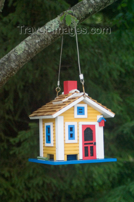 canada454: Close-up of a colourful birdhouse in historic Mahone Bay, Nova Scotia, Canada - photo by D.Smith - (c) Travel-Images.com - Stock Photography agency - Image Bank