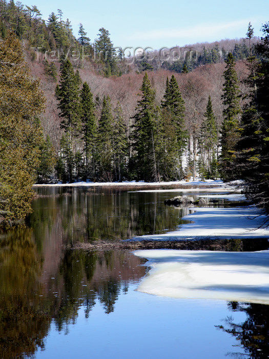 canada484: Canada - Ontario - Northern Ontario: river with snow - photo by R.Grove - (c) Travel-Images.com - Stock Photography agency - Image Bank