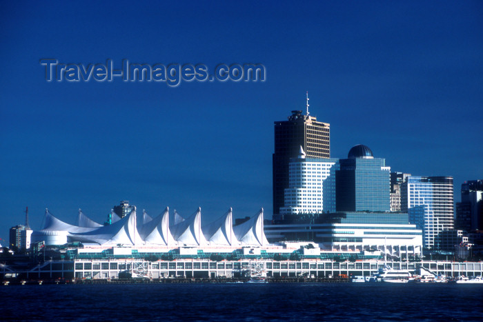 canada516: Canada / Kanada - Vancouver:  Canada Place and Vancouver city skyline from Burrard Inlet - photo by D.Smith - (c) Travel-Images.com - Stock Photography agency - Image Bank