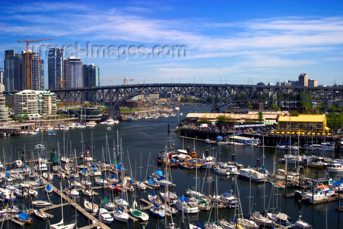 canada517: Canada / Kanada - Vancouver: Aerial view of False Creek marina and Granville Island - bridge - photo by D.Smith - (c) Travel-Images.com - Stock Photography agency - Image Bank
