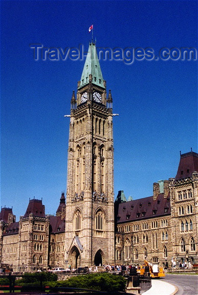 canada52: Canada / Kanada - Ottawa (National Capital Region): Peace Tower and Parliament building - photo by G.Frysinger - (c) Travel-Images.com - Stock Photography agency - Image Bank