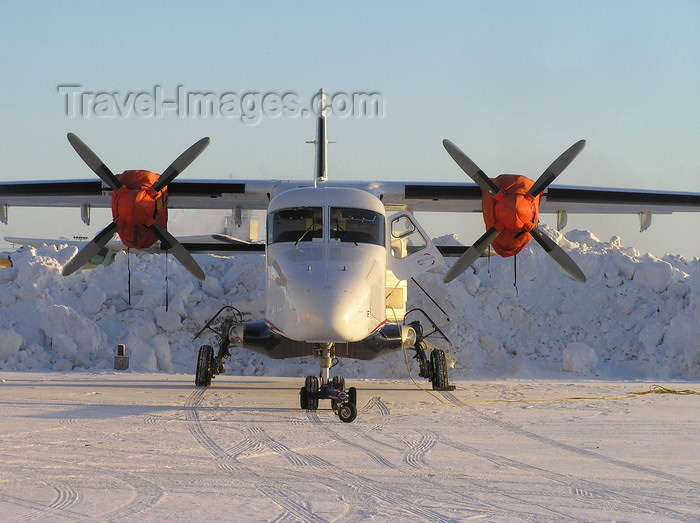 canada521: Northwest Territories, Canada: Dornier 228 - frontal view - photo by Air West Coast - (c) Travel-Images.com - Stock Photography agency - Image Bank