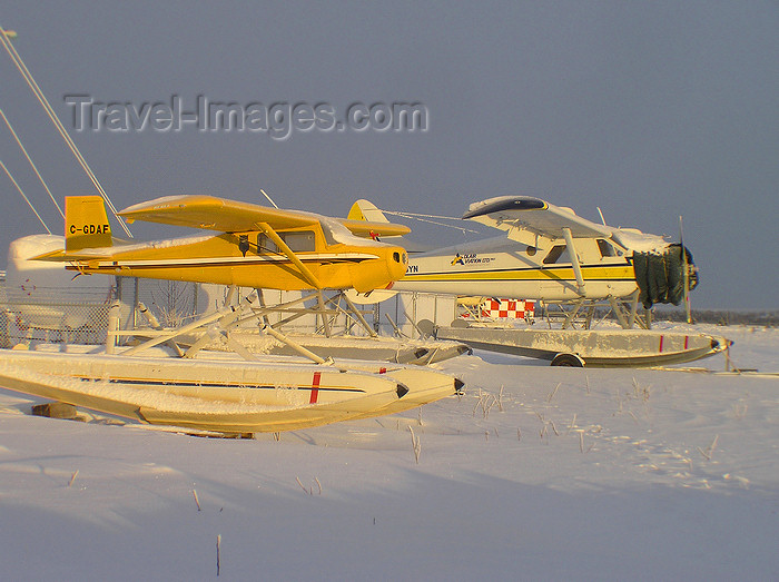 canada522: Northwest Territories, Canada: two float planes - Murphy Rebel C-GDAF, and de Havilland Beaver (DHC2) C-FGYN, Adlair Aviation - amphibious floats - photo by Air West Coast - (c) Travel-Images.com - Stock Photography agency - Image Bank
