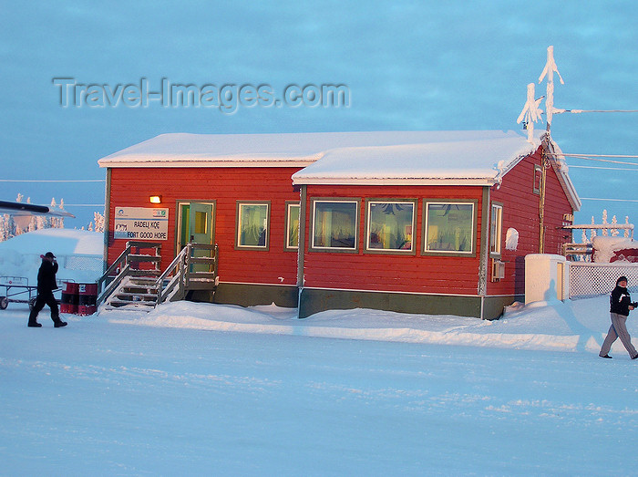 canada526: Fort Good Hope, Northwest Territories, Canada: Canadian building in snowy winter - photo by Air West Coast - (c) Travel-Images.com - Stock Photography agency - Image Bank