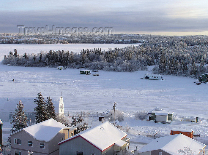 canada529: Yellowknife, Northwest Territories, Canada: frozen landscape - photo by Air West Coast - (c) Travel-Images.com - Stock Photography agency - Image Bank
