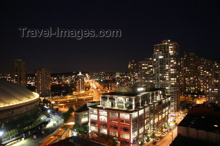 canada549: Vancouver, BC, Canada: BC Place at night - photo by J.Cave - (c) Travel-Images.com - Stock Photography agency - Image Bank