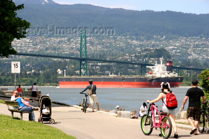 canada551: Vancouver, BC, Canada: Stanley Park and oil tanker - photo by J.Cave - (c) Travel-Images.com - Stock Photography agency - Image Bank