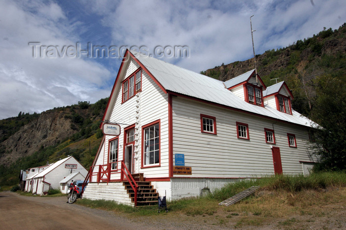 canada558: Telegraph Creek, BC, Canada: Riversong Inn and General Store  - photo by R.Eime - (c) Travel-Images.com - Stock Photography agency - Image Bank