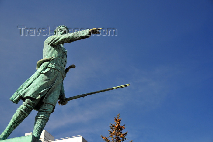 canada572: Montreal, Quebec, Canada: statue of Jean-Olivier Chénier, a Patriote commander in the Lower Canada Rebellion - sculpted by Alfonso Pelzer - Rue St-Denis - photo by M.Torres - (c) Travel-Images.com - Stock Photography agency - Image Bank