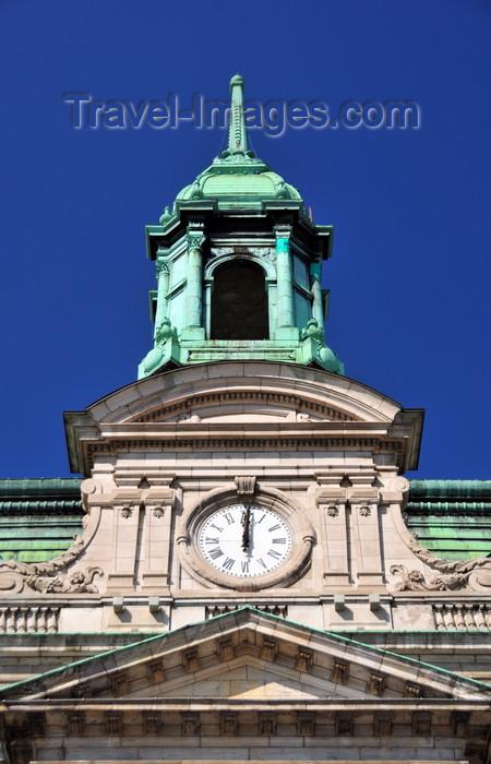 canada573: Montreal, Quebec, Canada: clock and tower of the City Hall - campanile without bells - Second Empire style - Hôtel de Ville - Palais municipal - pierre grise de Montréal - Rue Notre Dame Est - Vieux-Montréal - photo by M.Torres - (c) Travel-Images.com - Stock Photography agency - Image Bank