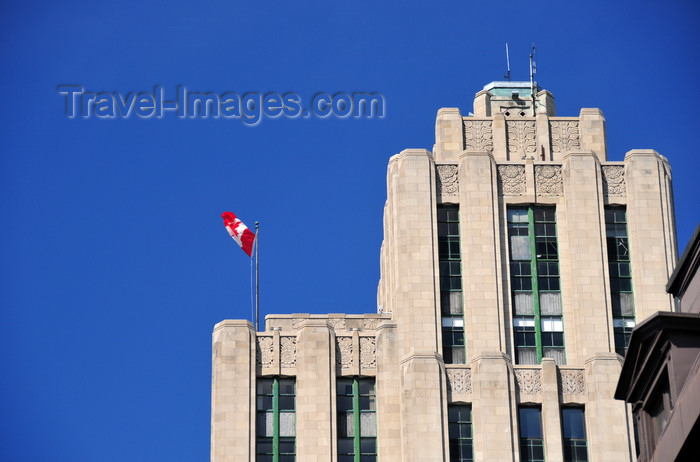 canada587: Montreal, Quebec, Canada: top of the Aldred Building - Art Deco spandrels at Montreal's first real skyscraper - bas relief motifs - Édifice Aldred - Place d'Armes - Vieux-Montréal - photo by M.Torres - (c) Travel-Images.com - Stock Photography agency - Image Bank