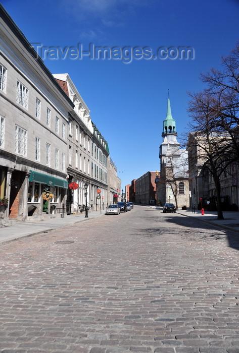 canada603: Montreal, Quebec, Canada: cobbled street - Rue Saint-Paul Est - Hôtel du Canada and Notre-Dame-de-Bon-Secours chapel - Vieux-Montréal - photo by M.Torres - (c) Travel-Images.com - Stock Photography agency - Image Bank