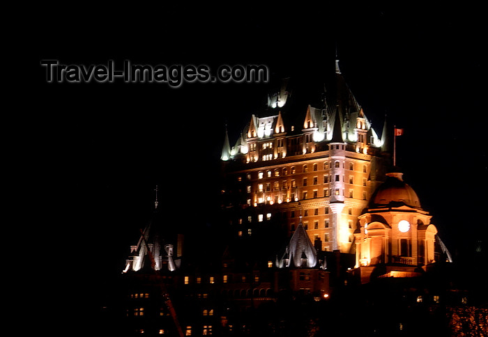 canada634: Quebec City, Quebec: Château Frontenac grand hotel at night - photo by B.Cain - (c) Travel-Images.com - Stock Photography agency - Image Bank