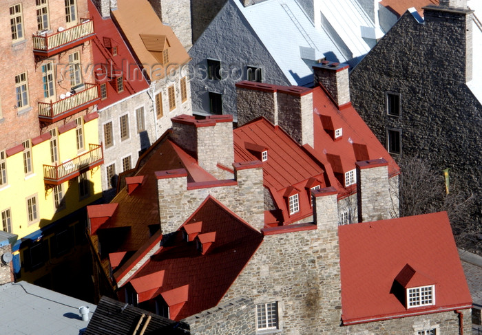 canada637: Quebec City, Quebec: city roof tops - photo by B.Cain - (c) Travel-Images.com - Stock Photography agency - Image Bank