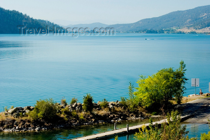 canada648: Okanagan Valley, BC, Canada: view of lake Kalamalka near Vernon -  a 'marl lake'  - photo by D.Smith - (c) Travel-Images.com - Stock Photography agency - Image Bank