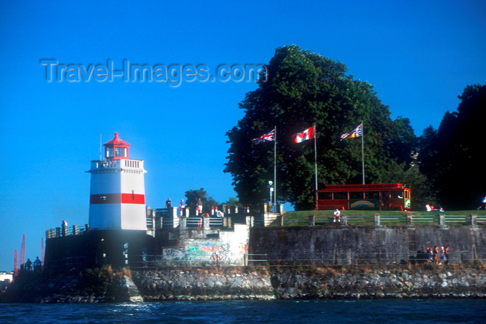 canada650: Vancouver, BC, Canada: Brockton Point lighthouse in Stanley Park - photo by D.Smith - (c) Travel-Images.com - Stock Photography agency - Image Bank