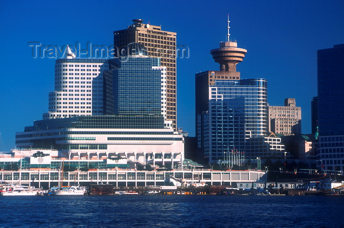 canada672: Vancouver, BC, Canada: Canada Place and the Sears Tower - photo by D.Smith - (c) Travel-Images.com - Stock Photography agency - Image Bank