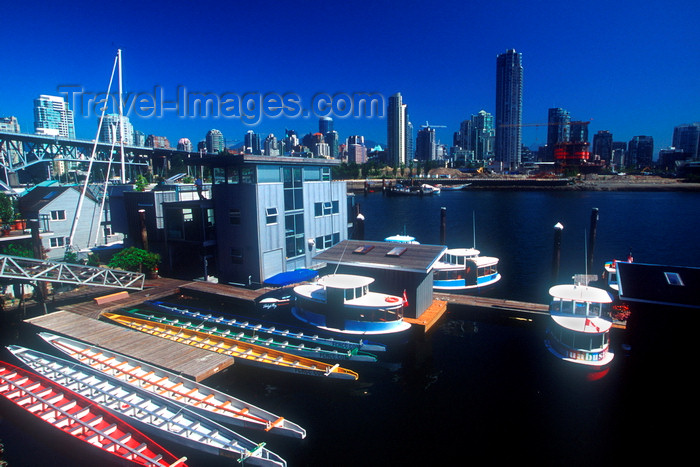 canada673: Vancouver, BC, Canada: dragon boats and skyscrapers - photo by D.Smith - (c) Travel-Images.com - Stock Photography agency - Image Bank