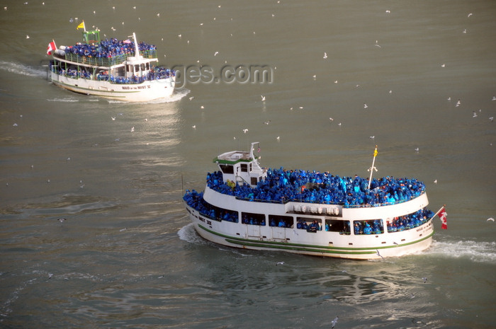canada686: Niagara Falls, Ontario, Canada: Maid of the Mist VII meets Maid of the Mist V - Niagara river - tour boats in the Niagara Gorge - photo by M.Torres - (c) Travel-Images.com - Stock Photography agency - Image Bank