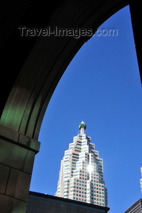 canada699: Toronto, Ontario, Canada: Brookfield Place - TD Canada Trust Tower framed by an arch at 35 the Esplanade - photo by M.Torres - (c) Travel-Images.com - Stock Photography agency - Image Bank